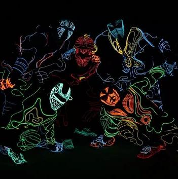 电光舞,激光舞表演